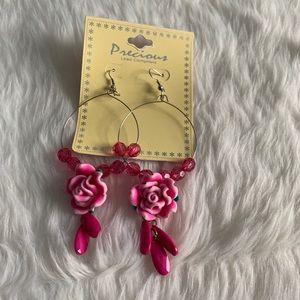 NEW Pink señorita earrings